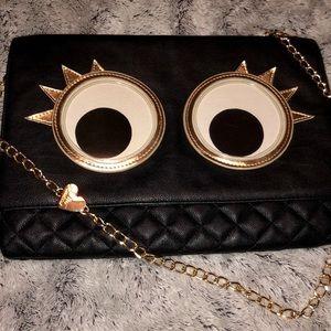 Betsey Johnson Googly moogly eyes handbag purse